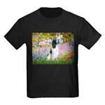 Monet's garden & Springer Kids Dark T-Shirt