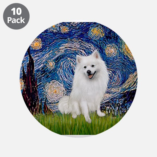"Starry / Eskimo Spitz #1 3.5"" Button (10 pack)"