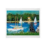 Sailboats / Flat Coated Retri Throw Blanket