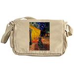 Cafe / Flat Coated Retriever Messenger Bag