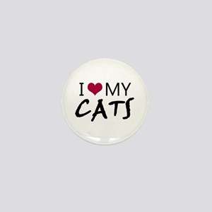 'I Love My Cats' Mini Button