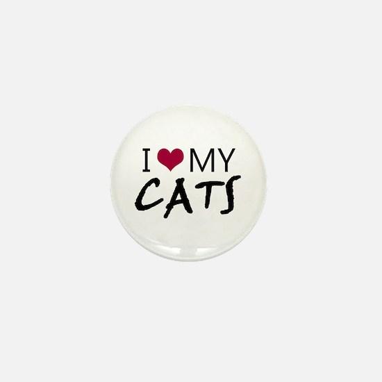 'I Love My Cats' Mini Button