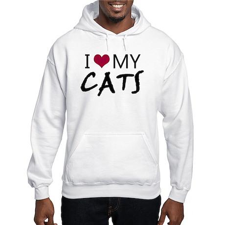 'I Love My Cats' Hooded Sweatshirt