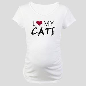 'I Love My Cats' Maternity T-Shirt
