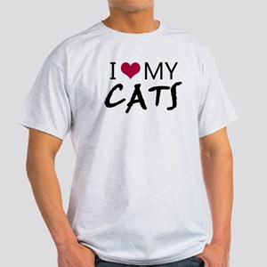 'I Love My Cats' Light T-Shirt