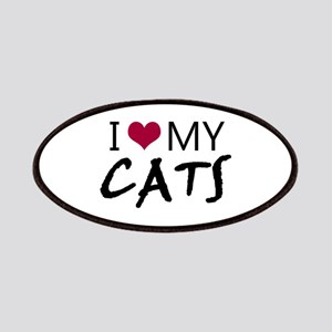 'I Love My Cats' Patches