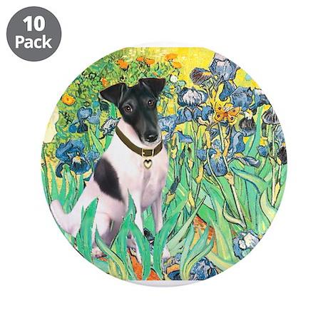 "Irises / T (#1) 3.5"" Button (10 pack)"