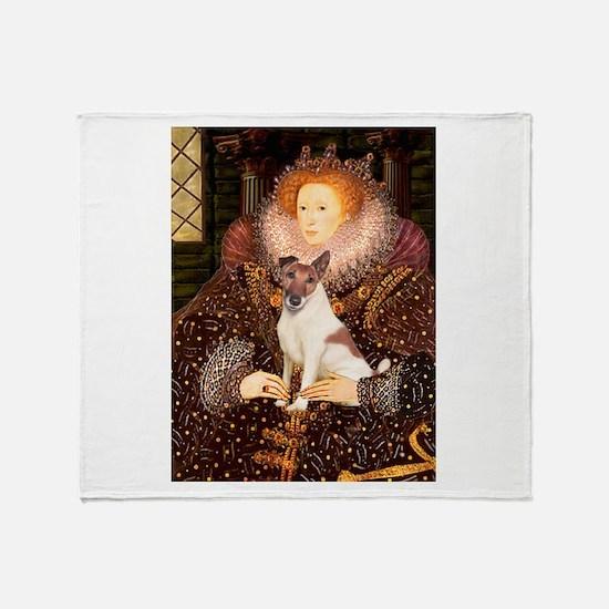 Queen/Fox Terrier (#S4) Throw Blanket