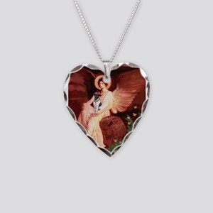 Angel / Smooth T (#1) Necklace Heart Charm