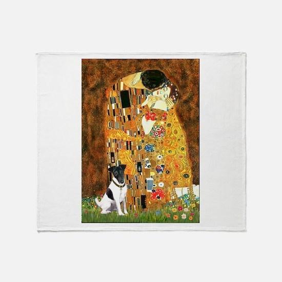 Kiss / Fox Terrier Throw Blanket