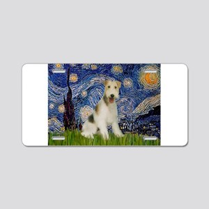 Starry / Fox Terrier (W) Aluminum License Plate