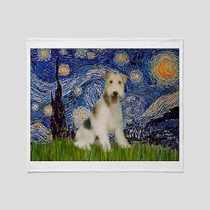 Starry / Fox Terrier (W) Throw Blanket
