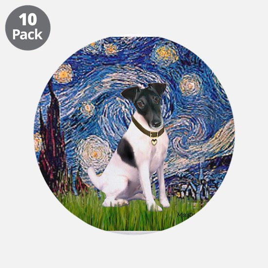 "Starry / Fox Terrier (#1) 3.5"" Button (10 pack)"