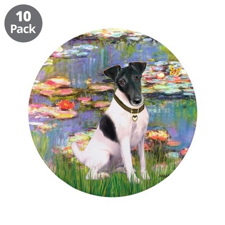 """Lilies / Smooth T (#1) 3.5"""" Button (10 pack)"""