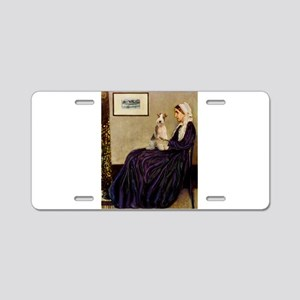 Mom's Wire Fox Terrier Aluminum License Plate