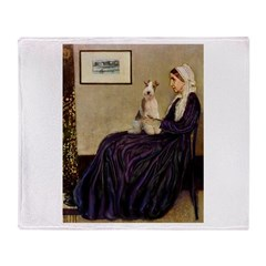 Mom's Wire Fox Terrier Throw Blanket