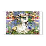 Lilies / Fr Bulldog (f) 20x12 Wall Decal