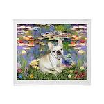 Lilies / Fr Bulldog (f) Throw Blanket