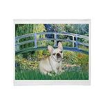 Bridge / Fr Bulldog (f) Throw Blanket