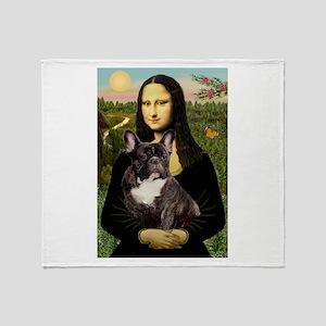 Mona / Fr Bulldog(brin) Throw Blanket