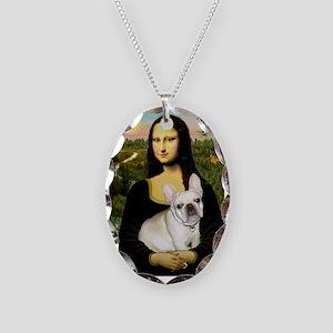 Mona / Fr Bulldog (f) Necklace Oval Charm