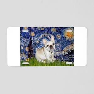 Starry / Fr Bulldog (f) Aluminum License Plate