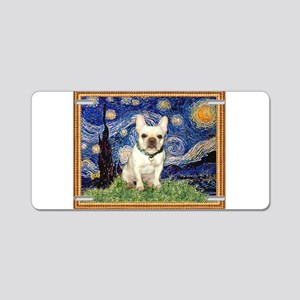 Starry/French Bulldog Aluminum License Plate
