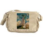 Umbrella /Fr Bulldog (f) Messenger Bag