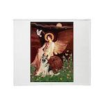 Seated Angel / G-Shepherd Throw Blanket
