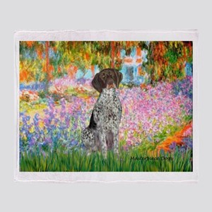 Garden/German Pointer Throw Blanket