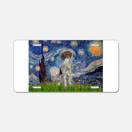 Starry Night /German Short Aluminum License Plate
