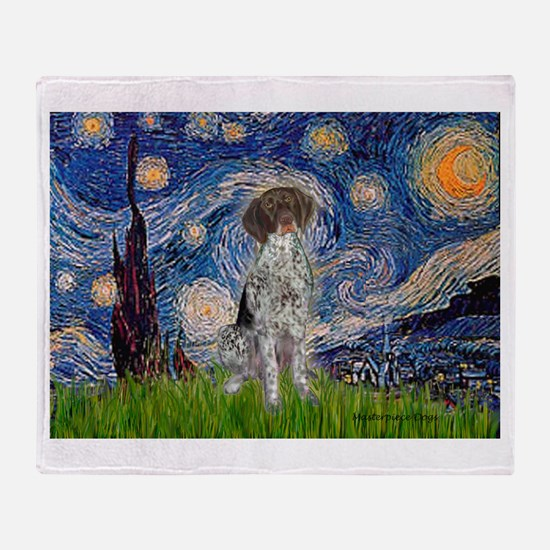Starry Night /German Short Throw Blanket