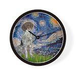 Starry Night /German Short Wall Clock