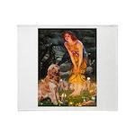 Fairies & Golden Throw Blanket