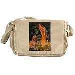 Fairies & Golden Messenger Bag