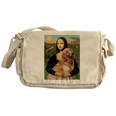 Mona's Golden Retriever Messenger Bag