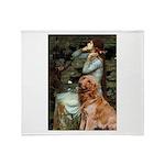 Ophelia & Golden Retriever Throw Blanket