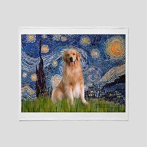 Starry Night / Golden Throw Blanket