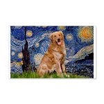 Starry Night Golden 20x12 Wall Decal