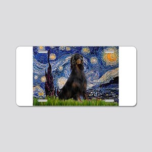 Starry Night & Gordon Aluminum License Plate