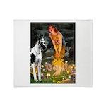 Fairies / Gr Dane (h) Throw Blanket