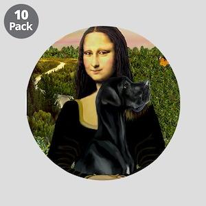 "Mona / Gr Dane (bl) 3.5"" Button (10 pack)"