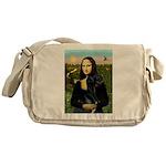 Mona / Gr Dane (bl) Messenger Bag