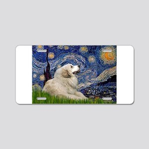 Starry / Gr Pyrenees Aluminum License Plate