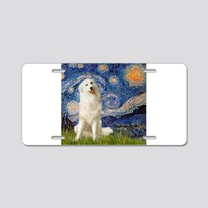 Starry Night / Pyrenees Aluminum License Plate