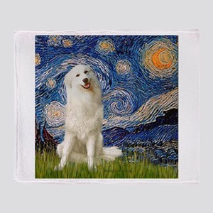Starry Night / Pyrenees Throw Blanket