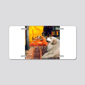 Cafe / Great Pyrenees Aluminum License Plate
