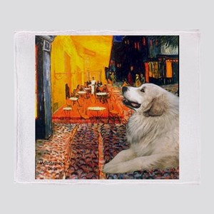Cafe / Great Pyrenees Throw Blanket