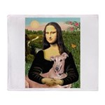 Mona Lisa / Greyhound #1 Throw Blanket