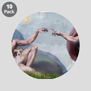 "Creation / Ital Greyhound 3.5"" Button (10 pack)"